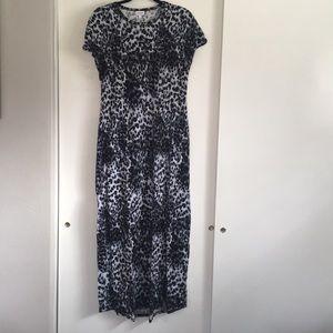 Snow leopard Maria maxi dress